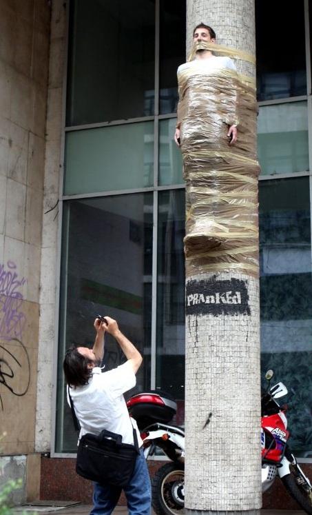 Momification dans la rue