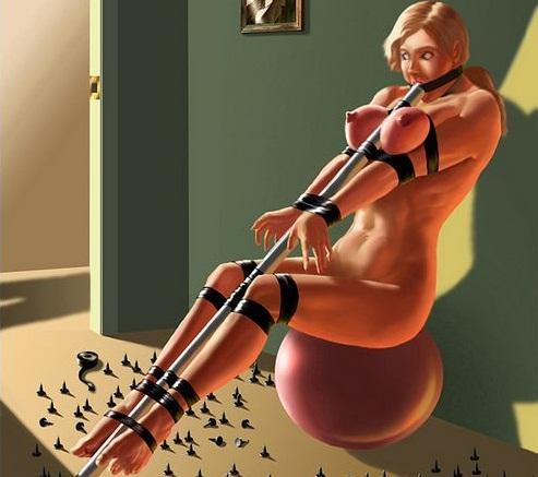 La punition d'une gymnaste