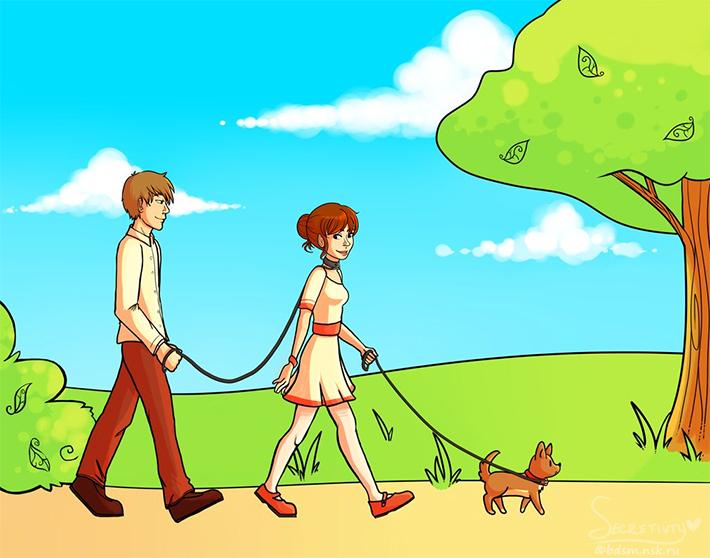 Promener un chien